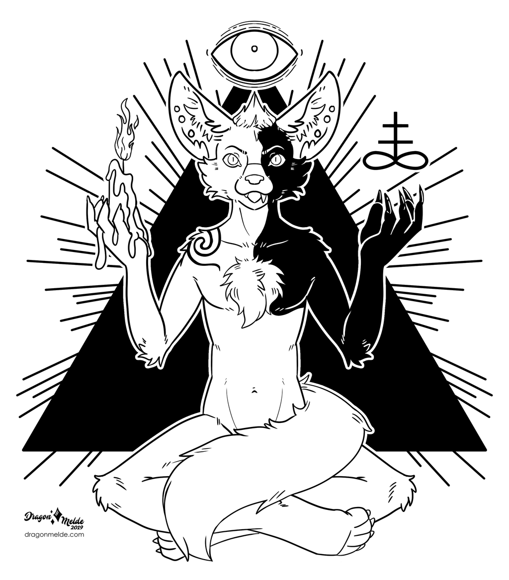 Inktober Commission 20- Occult