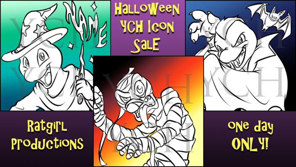 Featured image: ONE DAY ONLY Halloween YCH Icon Sale 2017