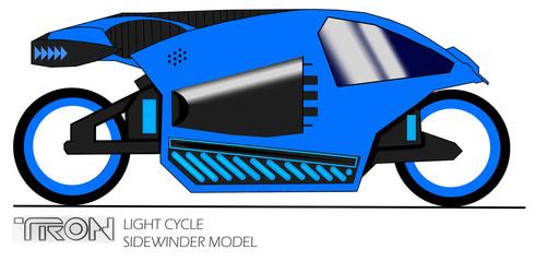 Tron Light Cycle - Sidewinder