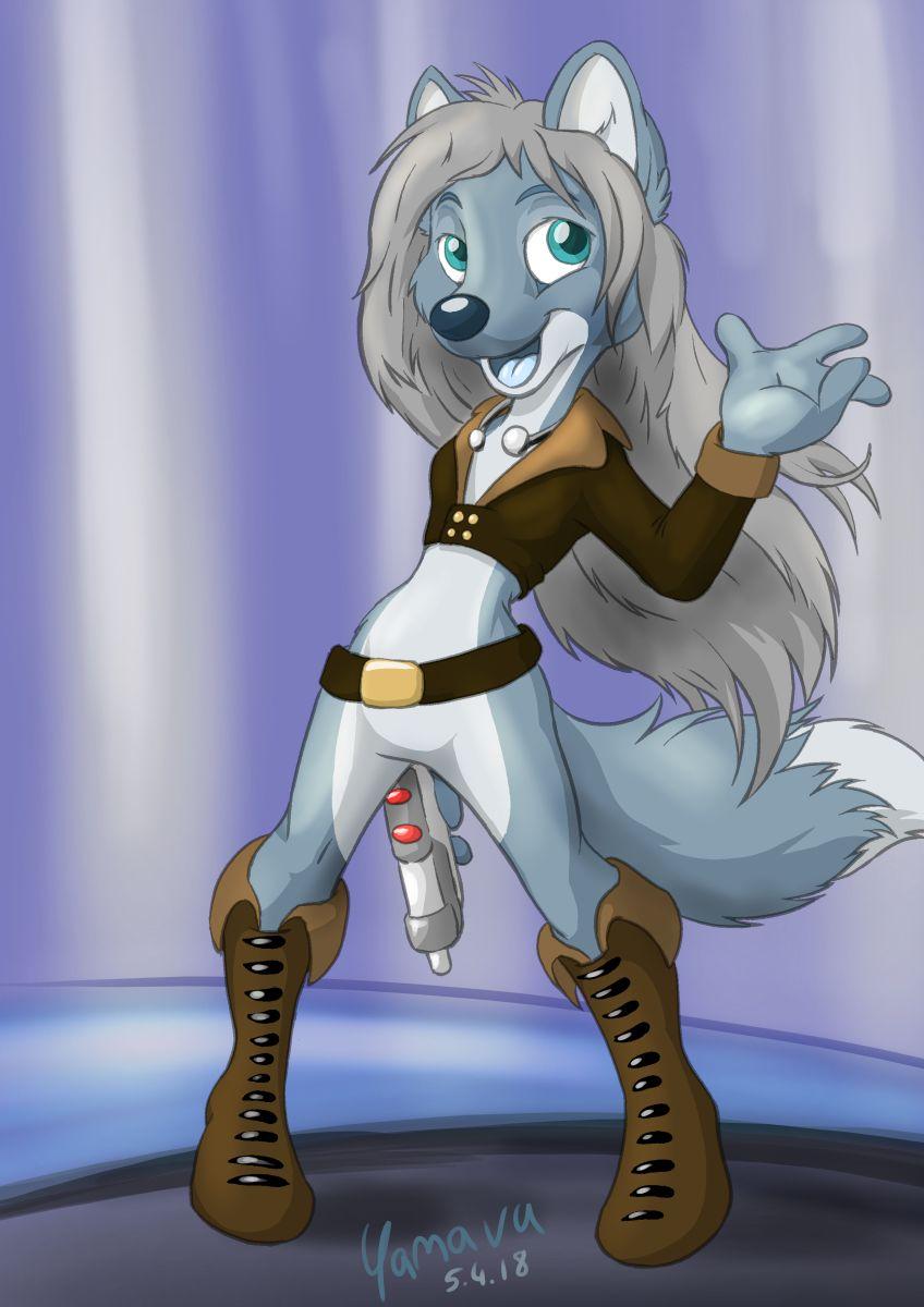 A kinda SciFi wolf girl