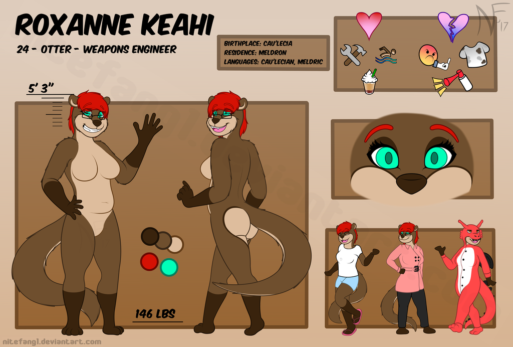{P} Roxanne Keahi - 2017 Reference Sheet (Nude)