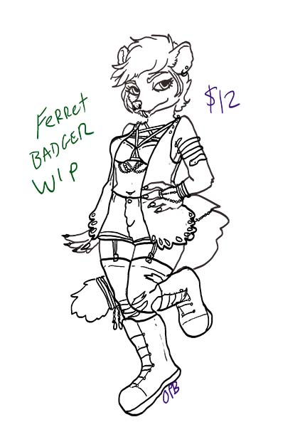 Ferret Badger OC for sale
