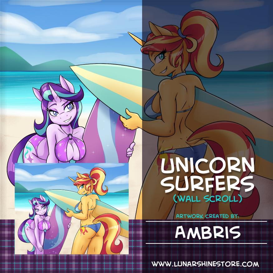 Unicorn Surfers by Ambris
