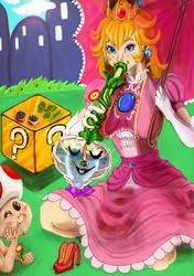 Blaze Up Smash: Princess Peach