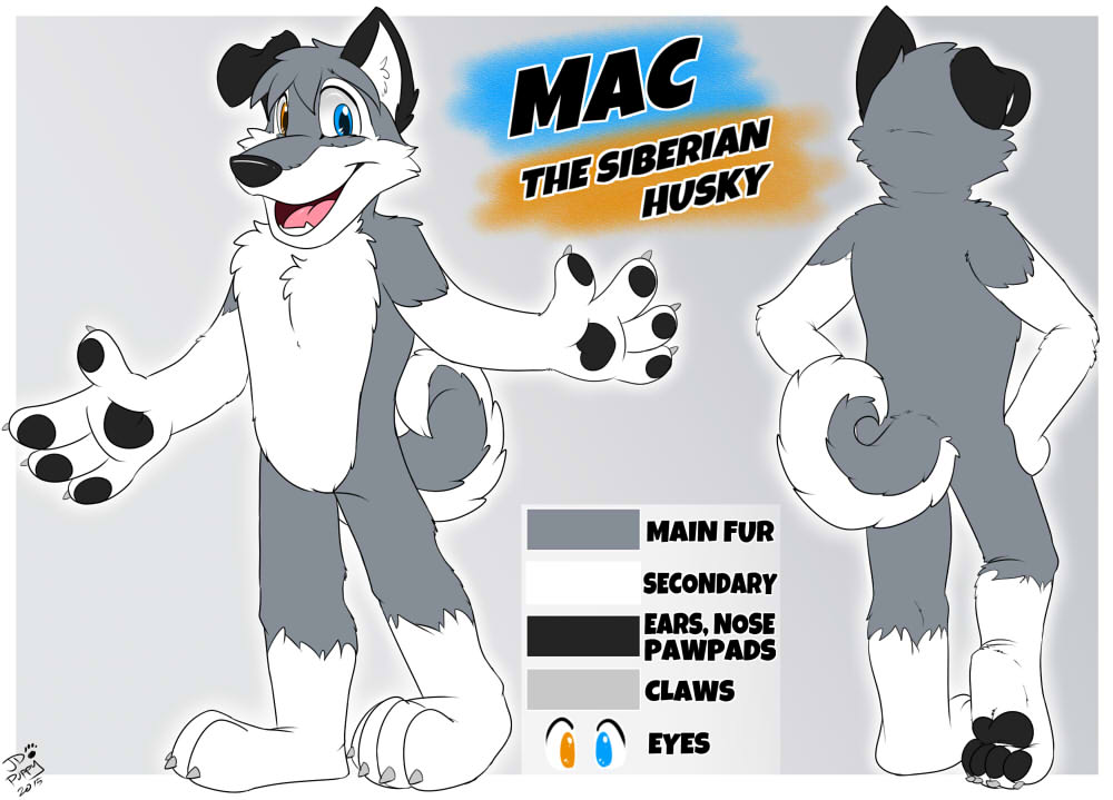 Reference Sheet Commission - Mac the Husky