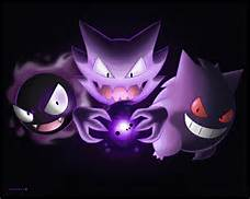 A ghostly trio (Gastly, Haunter and Gengar TF/MC)