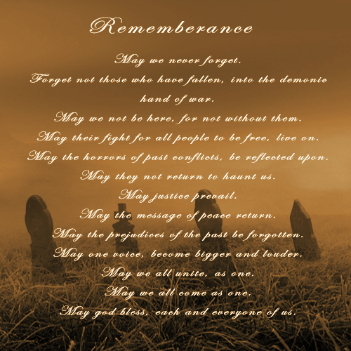 Most recent image: Rememberance