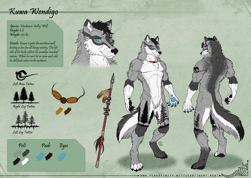 Kuwa Wendigo - Character Sheet Commission