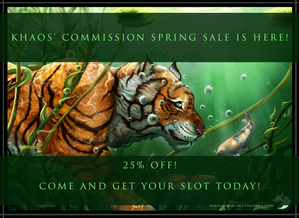 My Commission Spring Sale Is Here!