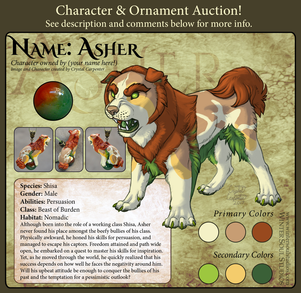 Character Auction - Asher - Closed