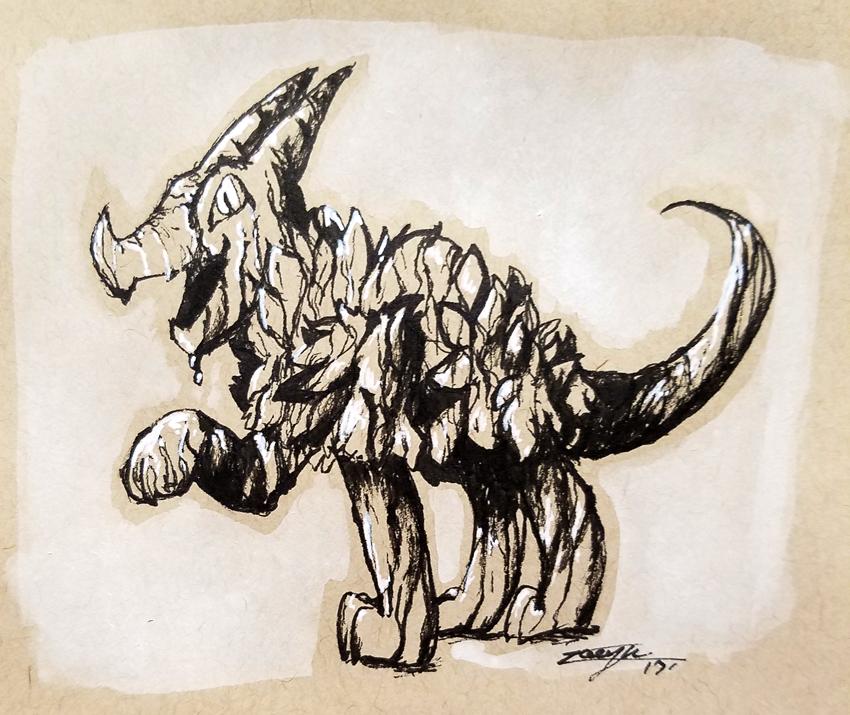 Inktober day 12. Ink Dragon!