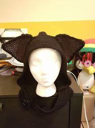 Black cat hood