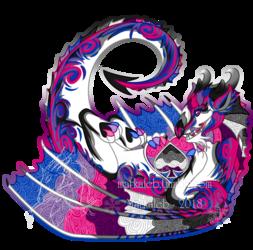 Biromantic Asexual Pride Dragon