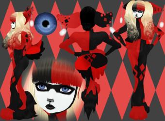 Harley Quinn Inspired Furry