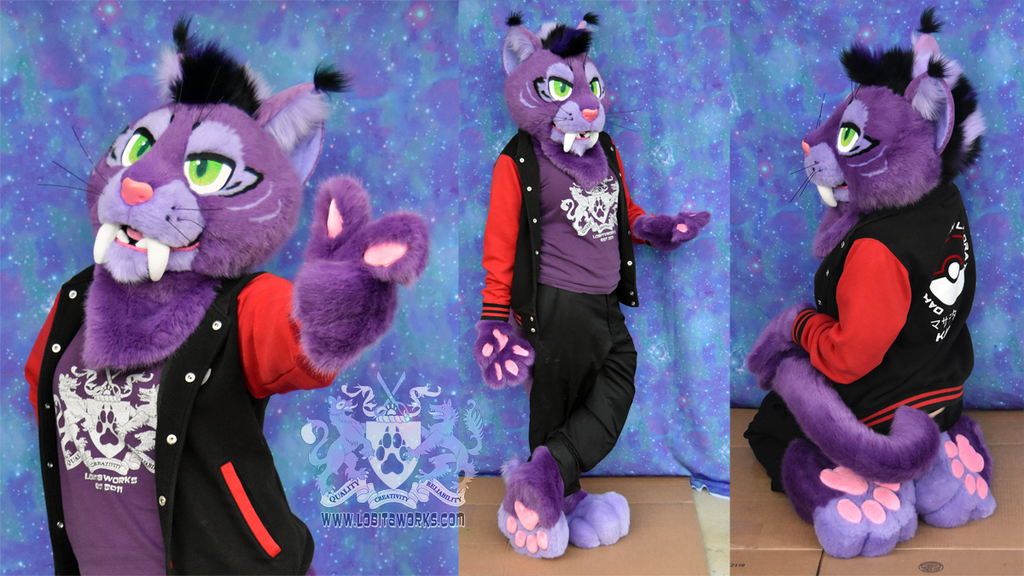 Purple Saberkitty Partial Suit for Sale