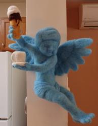 Blue Angel Custom Felted Wall Decor