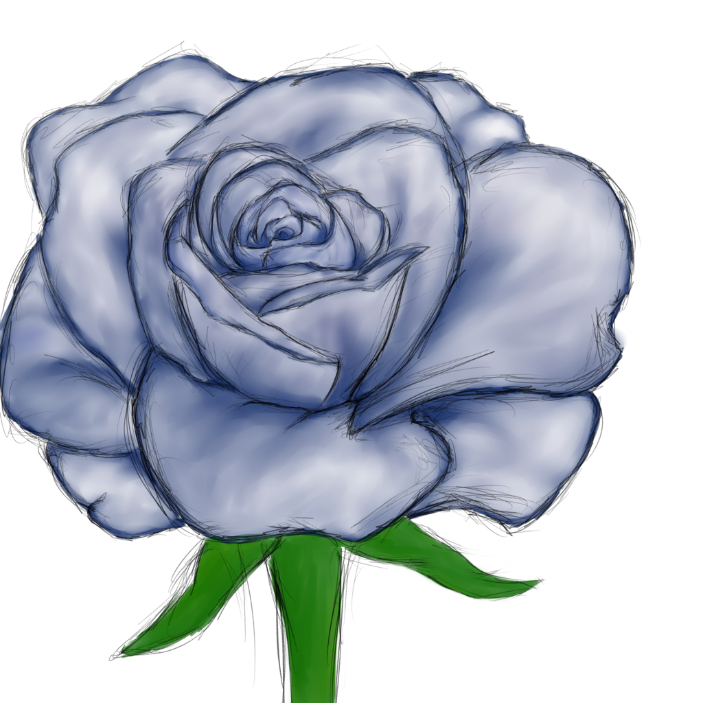 Blue rose (Paint practice in SAI)