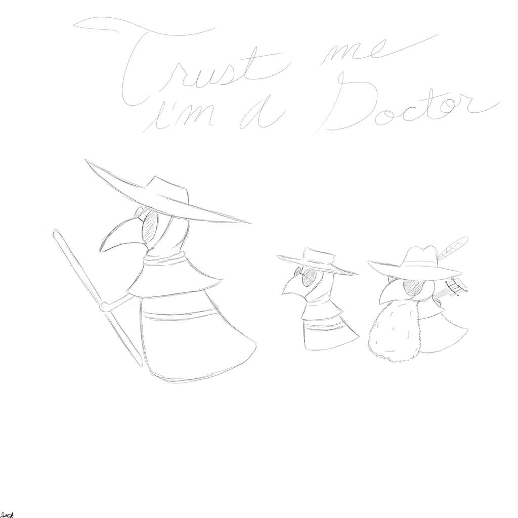 Most recent image: plague doctor