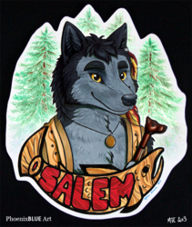 Salem Wolf MM Badge