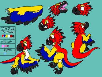 Zazu the Raptor Ref Sheet
