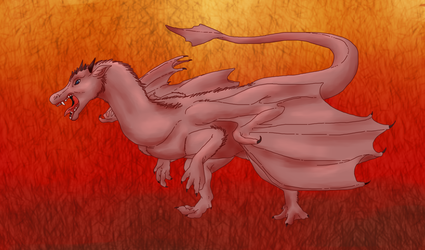 Shaded Sketch of a Dragon