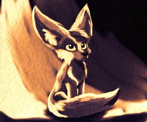 Fennec Fox Oil Digital Paint