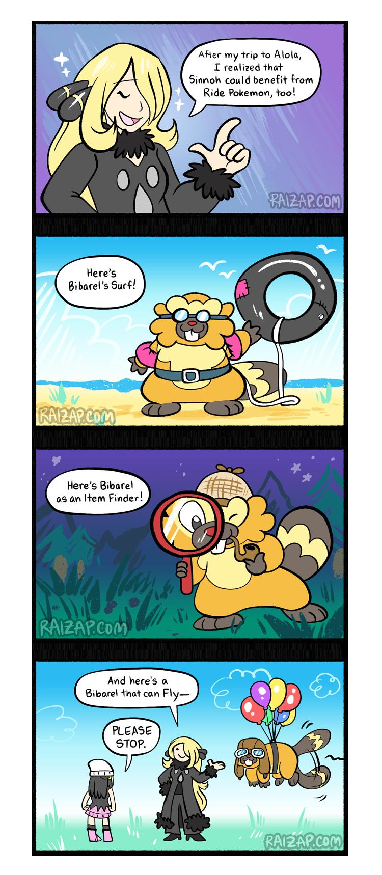 Bibarel the Ride Pokemon