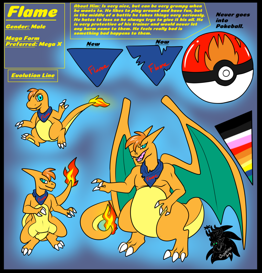 Flame +Flatcolored Ref Commission+