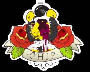 Chip Tattoo Badge