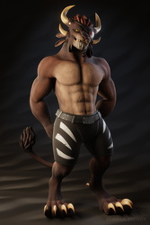 Kianga's Casual Outfit (2020 Edition, shirtless)