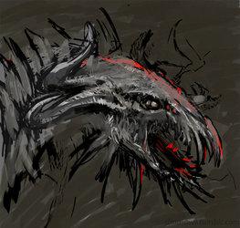 random dragon head