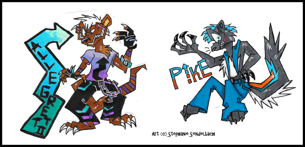 Allegretto and Pike Anthro Badges