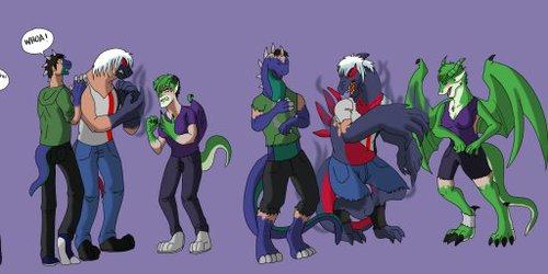 So a dino, a pokémon, and a dragoness TF and... (1/2)