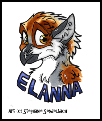Transformation Bust Badge for Elanna
