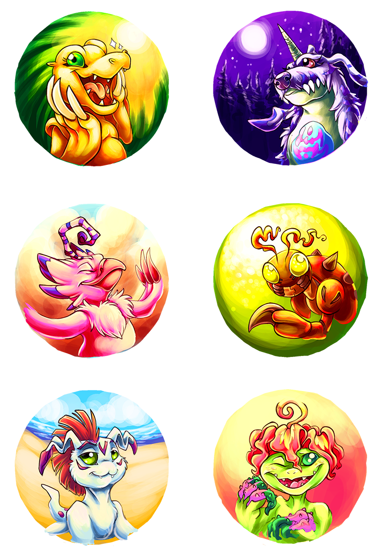 DIGIMON 01 buttons