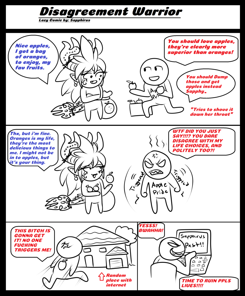 Disagreement Warrior +Parody comic+