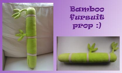 Bamboo fursuit prop