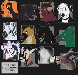 $20 Flat Icon Commissions - OPEN