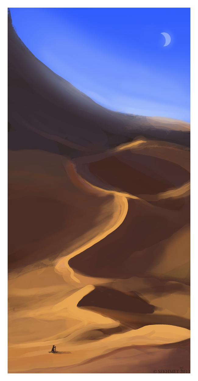 """Dunes"" 30 minute  Speed Painting"