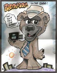 Bronson's Bear-icature