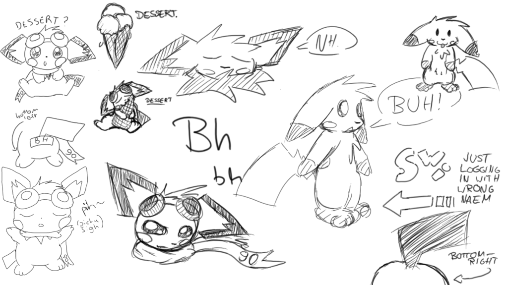 Drawpile Sketches with pichu90
