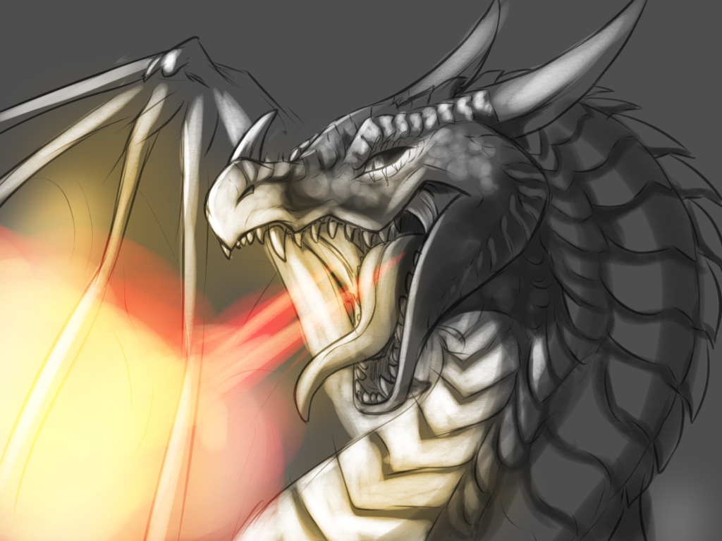 [GIFT] '' A Dragon Doing What Dragon's do best!''