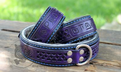 Tianti's Runed Filigree Collar & Cuff Set