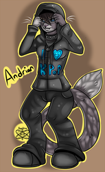 Adrian +Lineart Shaded Commission+