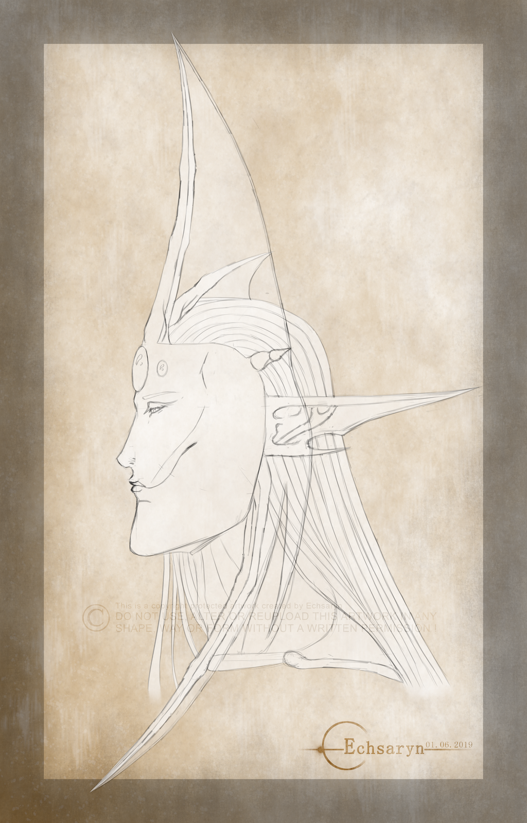 Echsaryn - Artwork - Fantasy - Sazaril - Head - 01