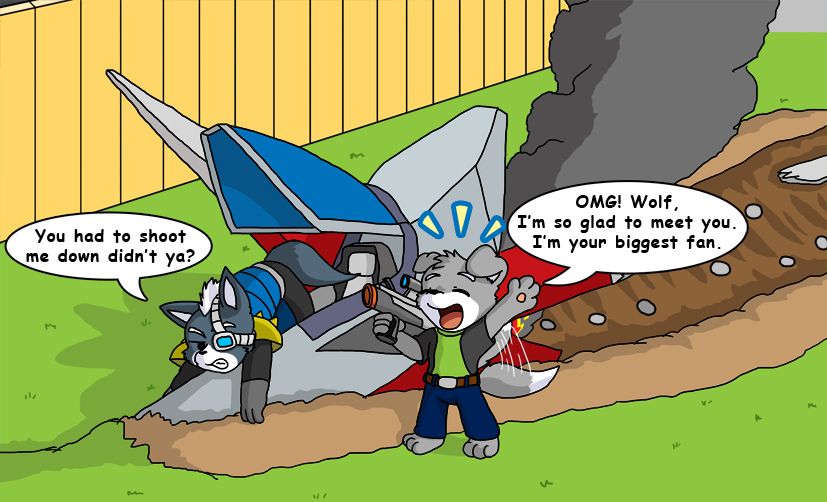 Most recent image: How I met Wolf from StarFox