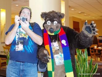 Bear and photographer