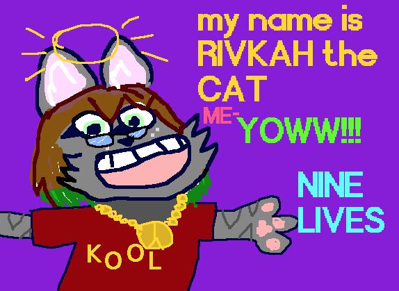 me-YOWW!!! It's Rivkah!! Kid Pix Style!