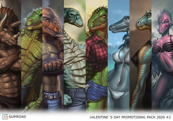 2020 Promotional Valentine's Dinosaucers Pack [Limited]