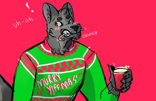 Most recent image: christmas werewolf!!!